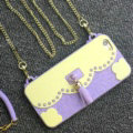 Candies Tassels Handbag Silicone Cases for iPhone 8 Plus Fashion Chain Soft Shell Cover - Purple