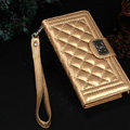 Chanel Handbag Genuine Leather Case Book Flip Holster Cover For iPhone 8 Plus - Gold