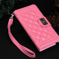 Chanel Handbag Genuine Leather Case Book Flip Holster Cover For iPhone 8 Plus - Pink