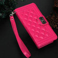 Chanel Handbag Genuine Leather Case Book Flip Holster Cover For iPhone 8 Plus - Rose
