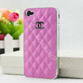 Chanel Hard Cover leather Cases Holster Skin for iPhone 8 Plus - Pink