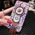 National Retro Tassels Silicone Cases for iPhone 8 Plus TPU Printing Color Shell Back Covers - Blue