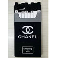 Unique Chanel Cigarette Box Silicone Cases For iPhone 8 Plus - Black