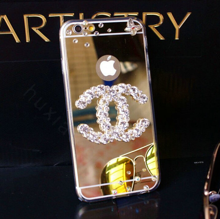 Super Buy Wholesale Unique Chanel Mirror Crystal Silicone Cases For  XY98