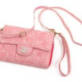 Chanel Flower Pattern Flip Leather Case Holder Wallet Universal Bag Cover for iPhone X - Pink