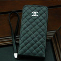 Chanel Genuine leather Case Flip Holster Cover for iPhone X - Black