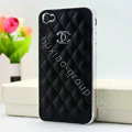 Chanel Hard Cover leather Cases Holster Skin for iPhone X - Black