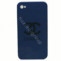 Chanel iPhone X case Ultra-thin scrub color cover - Navy blue