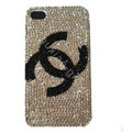 Chanel iPhone X case crystal diamond cover
