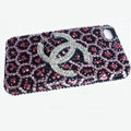 Chanel iPhone X case diamond leopard cover - pink
