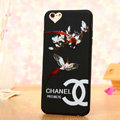 Cooling Chanel Floral Silicone Cases For iPhone X - Red