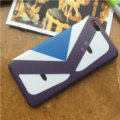 Fashion Fendi Monster Silicone Soft Cases for iPhone X TPU Shell Back Covers - Purple Blue