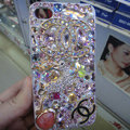 Swarovski crystal cases Bling Chanel Deer diamond covers for iPhone X - Pink