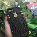 Popular LV Show Metal Crocodile Pattern Leather Cases For iPhone 7 Plus Louis Vuitton Cover - Black