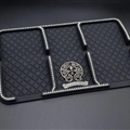Car-styling Chrome Hearts Anti-Slip Mat for Mobile Phone key Silica Gel Car Sticky Pad - Black