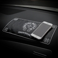 Chrome Hearts Auto Accessories Car Anti-Slip Mat for Mobile Phone key GPS Pad Silica Gel - Black
