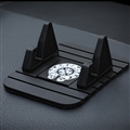Chrome Hearts Car Anti-Slip Mat for Mobile Phone Seat Bracket GPS Anti slip Pad Silica Gel - Black