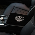 Chrome Hearts Crystal Plush Car Armrest Cushion Covers Pad Vehicle Center Console Arm - Black