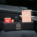 Cool Chrome Hearts Leather Car Seat Crevice Storage Box Multi-purpose Gap Store Box - Black