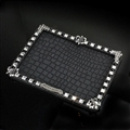 Crocodile pattern Chrome Hearts Anti-Slip Mat for Mobile Phone Silica Gel Car Sticky Pad - Black