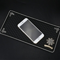 Retro Chrome Hearts Anti-Slip Mat for Mobile Phone Anti Slip Silica Gel Car Sticky Pad - Black Gold