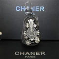 Unique Chrome Hearts Crystal Car Key Case Bag Diamond Leather Calabash type Holster - Black