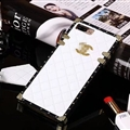 Chanel Leather Lanyards Rivet Metal Cases Shell For iPhone 8 Anti-seismic Soft Covers - White