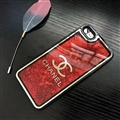 Chanel Quicksand Sequins Star Silicone Cases For iPhone 8 Soft Back Covers - Red