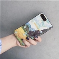 LV Embroidery Leather Case for iPhone 8 Louis Vuitton Oil Painting Hard Cover - Vangogh