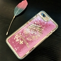Chrome Hearts Quicksand Sequins Star Silicone Cases For iPhone 8 Plus Soft Back Covers - Pink
