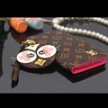 LV Chicken Key Chains Leather Case Universal Holster for iPhone 8 Plus Louis Vuitton Cover - Coffee Rose