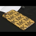 Simple MK Print Leather Case for iPhone 8 Plus Michael Hard Back Cover - Yellow