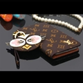 LV Chicken Key Chains Leather Case Universal Holster for iPhone X Louis Vuitton Cover - Coffee