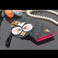 LV Chicken Key Chains Leather Case Universal Holster for iPhone X Louis Vuitton Cover - Gray Rose