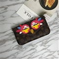 Retro LV Chicken Rivet Leather Case for iPhone X Louis Vuitton Flower Print Chain Bag - Rose