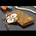 LV Chicken Key Chains Leather Case Universal Holster for iPhone 7 Louis Vuitton Cover - Brown