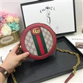 Casual Gucci Shoulder Leather Chains Bags Womens Crossbody Bags Ladies Zipper & Hasp - Red