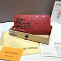 Classic LV Clutches Leather Bags Womens Wallets Fashion Ladies Banquet Purse Handbag - Red