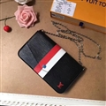 M62982 LV Crossbody Leather Bags Womens Chains Fashion Ladies Striped Hasp Bags - Black