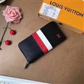 M62983 LV Clutches Leather Bags Womens Wallets Fashion Ladies Striped Handbag - Black