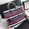 Unique Patchwork Balenciaga Top-Handle Bags Canvas + Leather Mens Zipper Letter Bags - Red