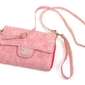 Chanel Flower Pattern Flip Leather Case Holder Wallet Universal Bag Cover for iPhone XS - Pink