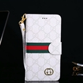 Classic Gucci Lattice Plaid Flip Leather Covers Folder Holster Cases For iPhone XS - White