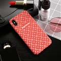 Classic LV Flower Shell Matte Covers Protective Back Cases For iPhone XS - Red