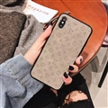 Classic LV Flower Skin Matte Covers Protective Back Cases For iPhone XS - Grey