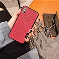 Classic LV Flower Skin Matte Covers Protective Back Cases For iPhone XS - Red