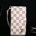 Classic LV Lattice Plaid Flip Leather Covers Folder Holster Cases For iPhone XS - White
