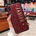 High Quality Shell Jadior Bling Leather Back Covers Holster Cases For iPhone XS - Red