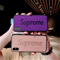 Retro Skin Casing Supreme Leather Back Covers Holster Cases For iPhone XS - Bean Paste
