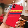 Unique Adidas Clover Shell Matte Covers Protective Back Cases For iPhone XS - Red